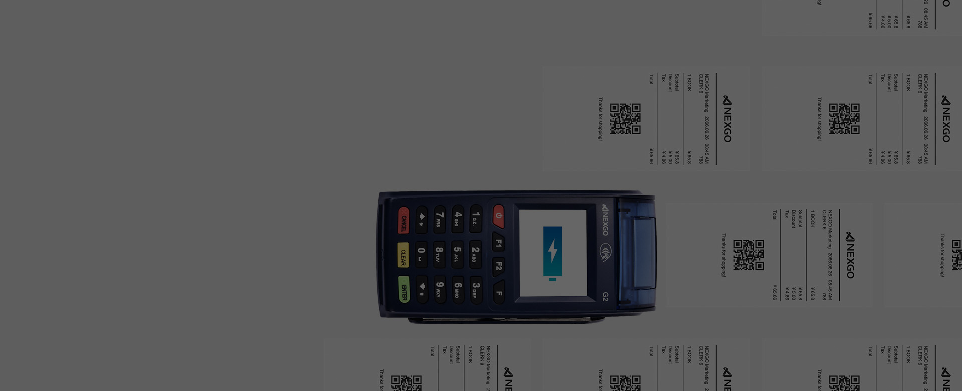 power-efficient NEXGO Portable POS Terminal G2